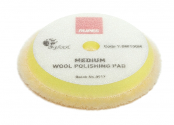 Yellow wool polishing pad Medium – Ø 130/145mm 50 pcs - 1