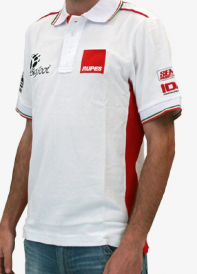 Gallery - BigFoot Polo racing white/red (Large) - 1