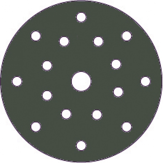 "Gallery - HQ400 film abrasive 125mm (5"") 17holes P320 100 pcs - 1"