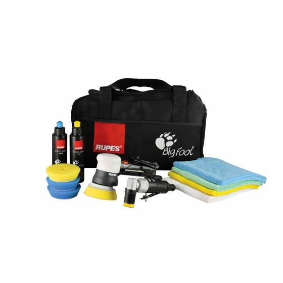 Gallery - PNEUMATIC MINI RANDOM ORBITAL POLISHER LHR75 SPOT REPAIR KIT WITH LD30 - 1