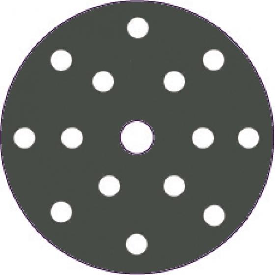 "Gallery - HQ400 film abrasive 150mm (6"") 15holes P500 100 pcs - 1"